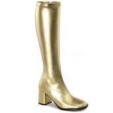 Gold Matt 8,5 cm Funtasma GOGO-300 Damen Stiefel