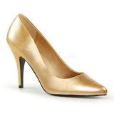 Gold Matte 10 cm VANITY-420 Women Pumps Shoes Flat Heels