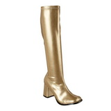 Gold Pu 7,5 cm Funtasma GOGO-300 Women Knee Boots
