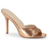 Gold Rose 10 cm CLASSIQUE-01 womens mules shoes