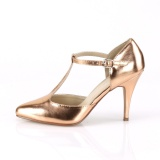 Gold Rose 10 cm VANITY-415 t-strap pumps high heels