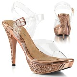 Gold Rose 11,5 cm ELEGANT-408 fabulicious posing high heels schuhe