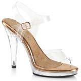 Gold Rose 11,5 cm FLAIR-408 fabulicious posing high heels schuhe