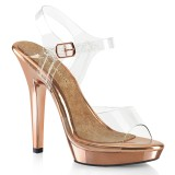 Gold Rose 13 cm LIP-108 fabulicious posing high heels schuhe