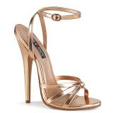 Gold Rose 15 cm DOMINA-108 fetisch high heels schuhe