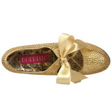 Gold Strass 14,5 cm Burlesque TEEZE-04R Plateau Damen Pumps Schuhe