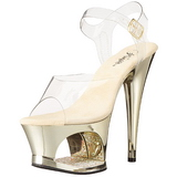 Gold Transparent 18 cm MOON-708DMCH Plateau High Heels