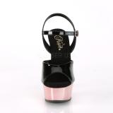 Gold chrome plateau 15 cm DELIGHT-609 pleaser high heels