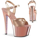 Gold chrome plateau 18 cm SKY-309TTG pleaser high heels
