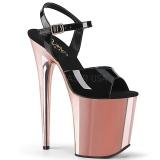 Gold chrome plateau 20 cm FLAMINGO-809 pleaser high heels