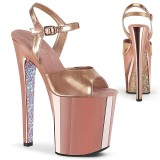 Gold chrome plateau 20 cm XTREME-809TTG pleaser high heels