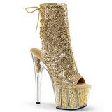 Gold glitter 18 cm ADORE-1018G damen stiefeletten mit plateausohle