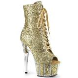 Gold glitter 18 cm ADORE-1021G damen stiefeletten mit plateausohle