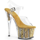 Gold glitter 18 cm Pleaser ADORE-708G pole dance high heels schuhe