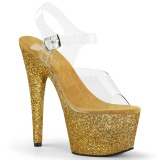 Gold glitter 18 cm Pleaser ADORE-708HMG pole dance high heels schuhe