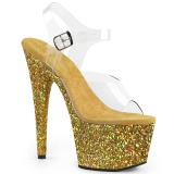 Gold glitter 18 cm Pleaser ADORE-708LG pole dance high heels schuhe