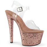 Gold glitter 18 cm Pleaser SKY-308LG pole dance high heels schuhe