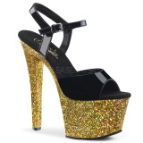 Gold glitter 18 cm Pleaser SKY-309LG pole dance high heels schuhe