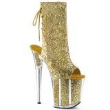 Gold glitter 20 cm FLAMINGO-1018G pole dance stiefeletten