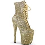 Gold glitter 20 cm FLAMINGO-1020GWR exotic pole dance stiefeletten