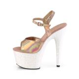 Gold glitter plateau 18 cm ADORE-709HGG pleaser high heels