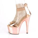 Goldene high heels 18 cm ADORE-765RM glitter plateau high heels