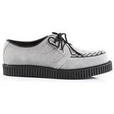 Grau Wildleder 2,5 cm CREEPER-602S Creepers Schuhe Herren