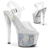 Grau transparent 18 cm SKY-308OF exotic pole dance schuhe