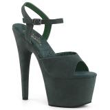 Grün Kunstleder 18 cm ADORE-709FS Sandaletten mit high heels