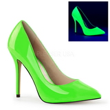 Grün Neon 13 cm AMUSE-20 Damen Pumps Stiletto Absatz