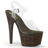 Grün glitter 18 cm Pleaser ADORE-708HMG pole dance high heels schuhe