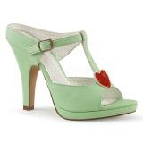 Grün 10 cm retro vintage SIREN-09 Damen Mules Schuhe
