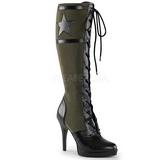 Grün 11,5 cm FUNTASMA ARENA-2022 Damen Stiefel mit schnürung