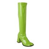 Grün Lack 8,5 cm GOGO-300 High Heels Damenstiefel für Männer