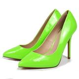 Grün Neon 13 cm AMUSE-20 spitze pumps mit stiletto absatz