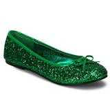 Grün STAR-16G glitter flache ballerinas damen schuhe