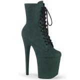 Grün faux suede 20 cm FLAMINGO-1020FS2 pole dance ankle boots
