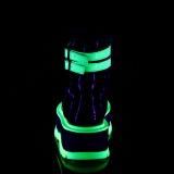 Grün neon 5 cm SLACKER-52 plateau stiefeletten - cyberpunk stiefeletten