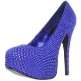 Hellblau Strass 14,5 cm Burlesque TEEZE-06R Plateau Damen Pumps Schuhe
