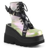 Hologram 11,5 cm SHAKER-56 lolita ankle boots wedge platform