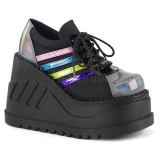 Hologram 12,5 cm STOMP-08 lolita ankle boots wedge platform