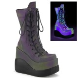 Hologram 13 cm VOID-118 demonia knee boots wedges platform