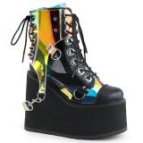 Hologram 14 cm SWING-115 lolita ankle boots wedge platform