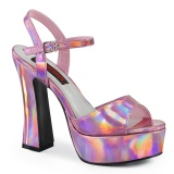 Hologramm 13 cm DOLLY-09 demonia high heels mit blockabsatz