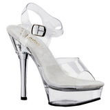 Komplett Transparent 14 cm ALLURE-608 Platform High Heel Schuhe