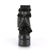 Kunstleder 11,5 cm CHARADE-110 Demonia stiefeletten mit plateau