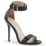 Kunstleder 13 cm Pleaser AMUSE-10 Sandaletten mit high heels