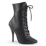Kunstleder 13 cm SEDUCE-1020 Schwarze high heels stiefeletten