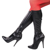 Kunstleder 13 cm SEDUCE-2000 stiletto lackstiefel high heels stiefel