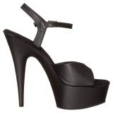 Kunstleder 15 cm DELIGHT-609 pleaser high heels mit plateau